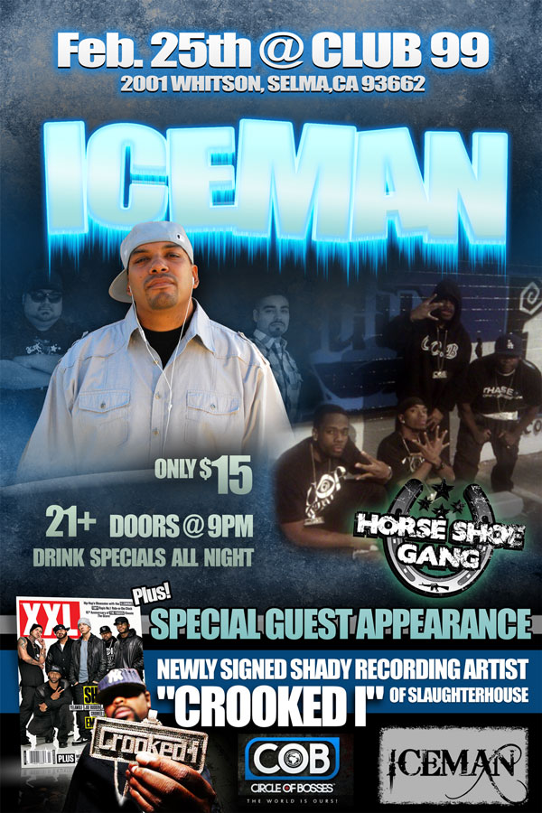 ICEMAN show flyer