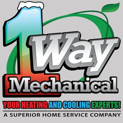 1 Way Mechanical Logo Design