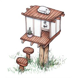 Illustration – Zen Cat House
