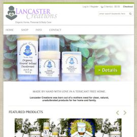 Website Design – Lancaster Creations