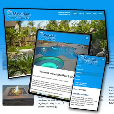 Website Design – Meridian Pool & Spa